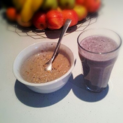 Healing Recepies - Purple Porridge & Bannana Berry Smoothie